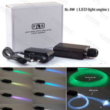 3W mini led light rgb optical fiber optic power supply light engine for car or home ceiling lighting decoration(China)