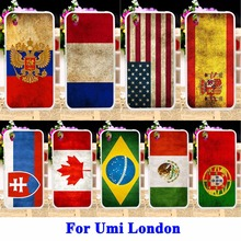 Soft Silicon Phone Cases For Umi London Smartphone MT6580 Covers UK Mexico Russia Brazil National Flag Housing Bag Shell Cover