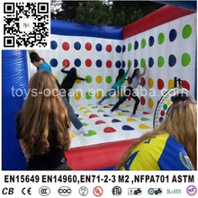 Hot Selling Giant Twister Game, Inflatable 3D Human Twister Game For Backyard