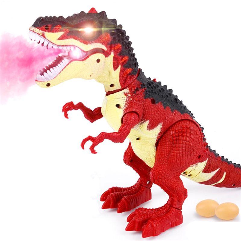 Dinosaur Tyrannosaurus TRex Model Battery Operated Toy Light Up Walking Kids Xma