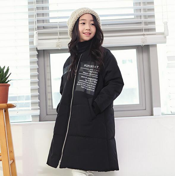 Children Winter Coat For Girls New 2017 Fashion Solid Lightweight Outwear Parka Down Coat Casual Cotton Kids Girl Jacket OutwearОдежда и ак�е��уары<br><br><br>Aliexpress