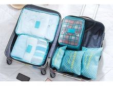 Multi Color Travel Luggage Organizer Packing Clothes Storage Bag Cube Waterproof(China)