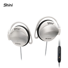 Shini 140S General Purpose Earphone Ear Hook Headphone with Microphone For iPhone Samsung Xiaomi All Mobile Phone Headset