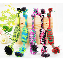 Handmade Dog Chew Toys Cotton Spiral Rope Toy  30cm  Dog Toys Clean Teeth Rope Pet Toys Teath Pet Accessories PY981