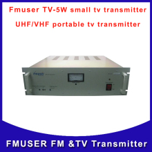 Fmuser TV-5W UHF VHF TV Transmitter portable small power for tv broadcast Free Shipping
