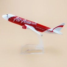 16cm Alloy Red Now Everyone Can Fly Air Asia Airlines Airbus 320 A320 Plane Model Aircraft Airplane Model w Stand Craft(China)