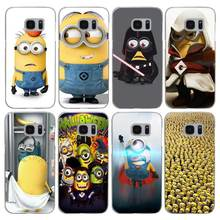 G467 Yellow Minion Transparent Hard PC Case Cover For Samsung Galaxy S 3 4 5 6 7 8 Mini Edge Plus Note 3 4 5 8