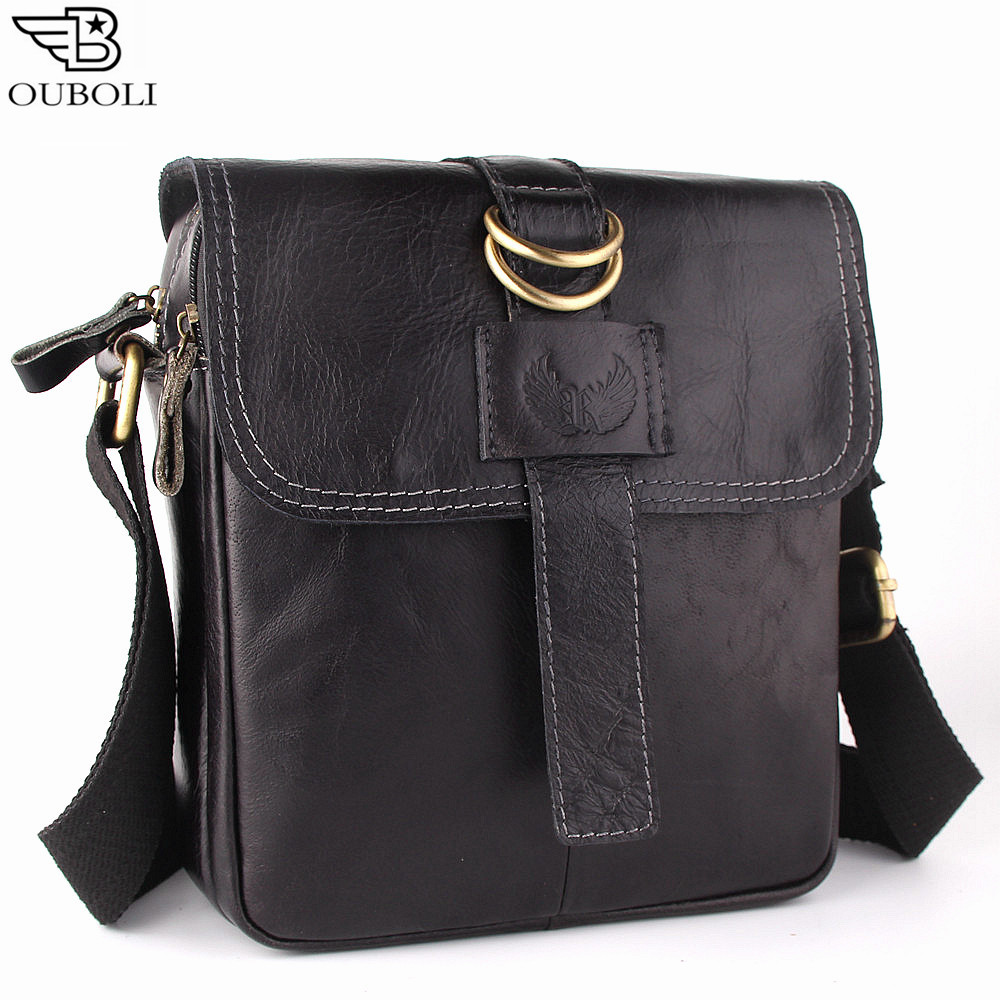 Genuine Leather Man Bag Vintage Messenger Bags Leather Men Crossbody Shoulder Handbags Hot Sell Mens Casual Flap Bag<br><br>Aliexpress