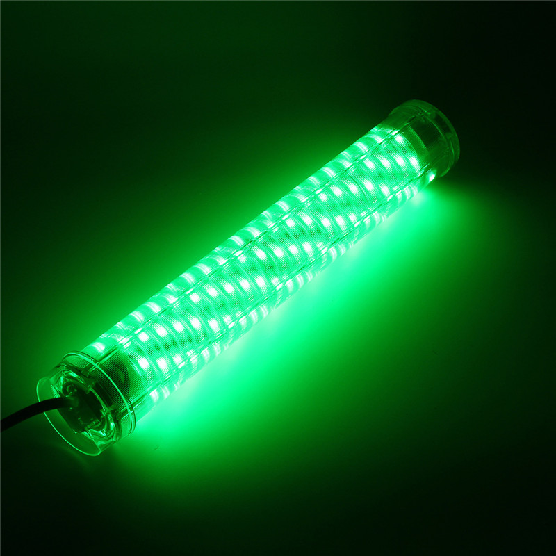 30W LED Green Underwater Submersible Fishing Light 2400LM Squid Dock Piers Lamp