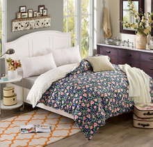 Cotton Single /double Pastoral floral quilt cover twin full queen king size duvet cover comforter cover bedroom Home Textiles(China)