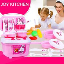 New Christmas Children Gift Play Kitchen Set Kids Pretend Toy Cooking Food Toys Drop Shipping Y1208(China)
