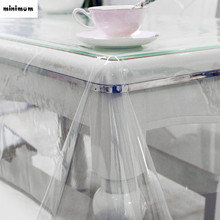 Ultra-thin Sagging PVC tablecloth Transparent plastic soft glass tablecloth PVC coffee mats Waterproof and oil wash free