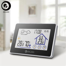 Digoo DG-TH8380 Wireless Thermometer Hygrometer Touch Screen Weather Station Thermometer Outdoor Forecast Sensor Clock