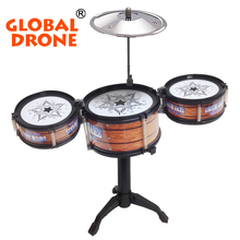 GLOBAL DRONE Jazz Drum Toys Baby Musical instruments Jazz Drum Cymbal Sticks Rock Set Educational Learning Toy Gift for children