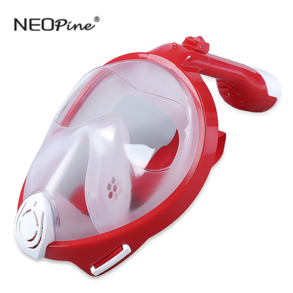 NEOpine Christmas Design Diving Swimming Training Scuba GoPro Camera Anti Fog Foldable Dry Snorkeling Diving Mask for Kids adult(China)