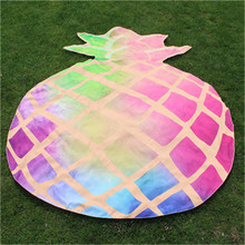 Color pineapple Fruit shape Design Bohemian Hippie Tapestry Beach towel Picnic Throw Yoga Mat bath Towel for adults 2017 Fashion