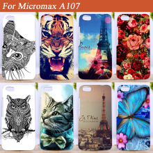 Case For Micromax A107 a107 SOFT TPU Cover Stand Eiffel Towers Colored Printing For Micromax Canvas Fire 4 A 107 tpu Case Cover(China)