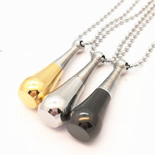 Perfume Bottle Necklace & Pendant Empty Openable Stainless Steel Women Jewelry Essential Oil Diffuser Necklace(China)