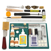 Buy 1 Set Tools Leather Craft Tool Kit Leather Hand Sewing Tool Set Sewing DIY Professional Leather Crafts Tool Supplies for $47.88 in AliExpress store