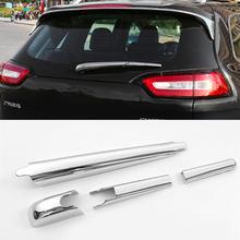 Fit For Jeep Cherokee 2014 2015 2016 2017 4Pcs Chrome Rear Window Wiper Arm Blade Cover Trim Overlay Garnish Molding Nozzle