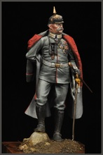 Free Shipping 1/24 Scale Unpainted Resin Figure Paul von Hinderburg