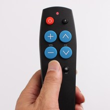 7keys TV Learning remote control, Big buttons easy use for all TV STB DVD DVB SAT