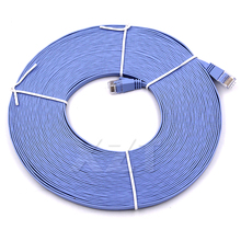 Newest Hot 15 meters CAT6 Flat UTP Ethernet Network Cable RJ45 Patch LAN Cable For Router DSL Modem