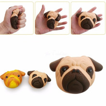 Kawaii Squishy Dog Face Bread Soft Slow Rising Pendant Phone Straps Stretchy Squeeze Cake Kid Toy Gift Christmas Gift P15