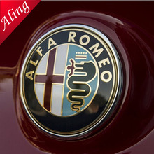 SHUAIZHONG 2pcs 74mm ALFA ROMEO Mito 147 156 159 166 Giulietta Spider GT Car Logo emblem Front Rear Badge(China)