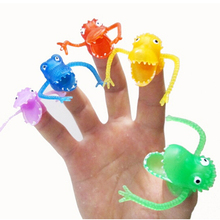 New Novel Story Of Finger Puppets Mini Plastic Dinosaur Toys Classic Finger Toys Children Baby Comfort Toy(China)