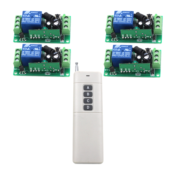 MITI-1CH RF Wireless Remote Control Switches 12V 4 10A 1CH Receiver and 1 Long Range Transmitter Home Automation SKU: 5343<br><br>Aliexpress
