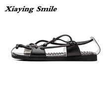 Hot Sale Brand Classic Arizona Men Casual Flats Sandals Fashion Buckle Summer Beach Shoes Top Quality Genuine Leather Slippers(China)
