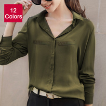 Buy 2017 Hot Brand Women Shirts Blouses Long Sleeve Casual Solid Ladies Chiffon Blouse Tops Fashion OL Plus Size Shirt Chemise Femme for $10.62 in AliExpress store