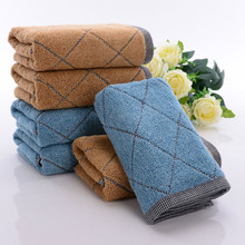 2017 Hand Towel Washcloths For Face Hair Home Bathroom Outdoor And Travel Towels Cotton Soft High Absorbent Lavender(China)