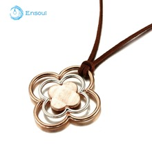 Ensoul 2018 New Design Korea Velvet Pendant alloy Flower Necklace High Quality Birthday Gifts For Girl And Ladies Trendy EN-0106(China)