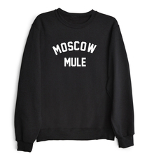 MOSCOW MULE Crewneck Sweatshirts Women Letter Print Sweats Jumper Outfits Female  Tops Girls Hoodies