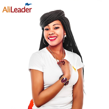 AliLeader Products 100 Kanekalon Hair Box Braids Extensions 12 16 20 24 Inches Bulk Hair For Crochet Braids With Synthetic Hair