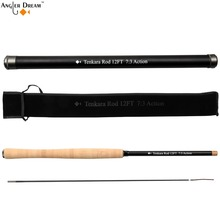 12 / 13FT Tenkara Fly Rod with Spare Tip Telescoping Fishing Pole Carbon Fiber Fly Fishing Rod