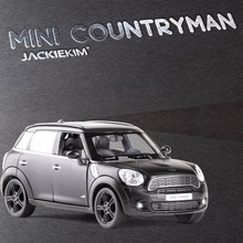 RMZ City 1:36 Scale Mini Cooper S Countryman Matte Black 5 Inch Diecast Model Car Toys Best Gift for Children Free Shipping(China)