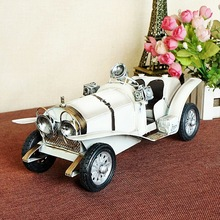1215 white Retro Classic Car Model Furnishing Articles Creative Household Gifts