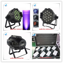 A-12light +2 fly case guangzhou led par DJ Par can 18x10w led par64 light RGBW dmx LED zoom PAR