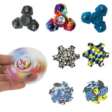 Cool Tri Fidget Spinner Metal Beyblade Toy Hand Finger Handspinner Gyroscope Spin Stress Spinner Funny Toys For Children Kids