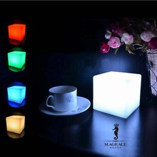 Novelty 10*10*10cm Cube LED Chargeable Night Light 16 Colors Changeable for Party Bedroom Christmas Home Decorative Table Lamps