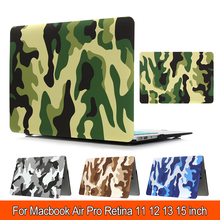 Laptop Cases Water stickers Camouflage Matte Surface Hard Case Cover For macbook air 11 pro reitna 12 air 13 pro retina 15(China)
