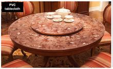 Hotel household round tablecloth soft glass transparent PVC tablecloth