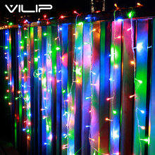 VILIP 200LED 15M String Lights Christmas Party Wedding Holiday Decoration Lights Fairy Lights outdoor Waterproof led lamp AC220V(China)