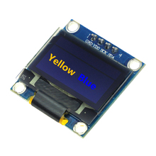 Smart Electronics New  0.96 inch Yellow Blue OLED module 128X64 OLED LCD LED Display Module For arduino IIC I2C Communicate