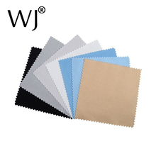 100pcs Buckskin Silver Jewelry Cleaning Polishing Cloth Sterling Gold Cleaner 8x8cm Cheapest Double Sides Tool Black White Blue(China)