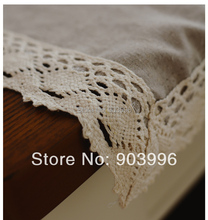 Free shipping-Contracted the Nordic style Pure color washed linen table cloth-(140*180cm)only table cloth