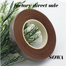 Free Shipping Coffee Size12mm Length 30 Yard Paper Tape For Nylon Stocking Flower And Butterfly Wedding Decoration(5pcs/lot)